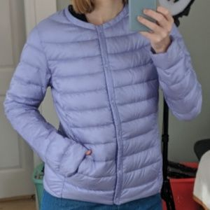Jackets & Blazers - Lavendar Goose Down Puffer Jacket